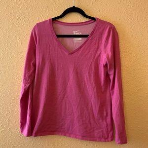 Nike Pink Long Sleeve T